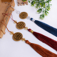 10Pcs/Lot Wood Curtain Cord Tassel Fringe Curtain Accessories DIY Sofa Garment Valance Decorative Key Tassel For Sewing