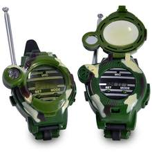 2 pcs 7 In 1 Walkie Talkie Kids Horloge Camouflage Kinderen Speelgoed Elektrische Clear Range Interphone Interactieve CS Spel Apparatuur(China)