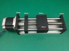 цены на GGP ballscrews 1204 1605 1610 500mm Ball Screw Slide Rail Linear Motion Guide Moving Table+1pc Nema 23 motor 57 Stepper Motor  в интернет-магазинах