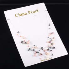 All Over The Sky Star Fairy Transparent Line of Pearl Necklace Chain Multilayer Brief Paragraph Female Women