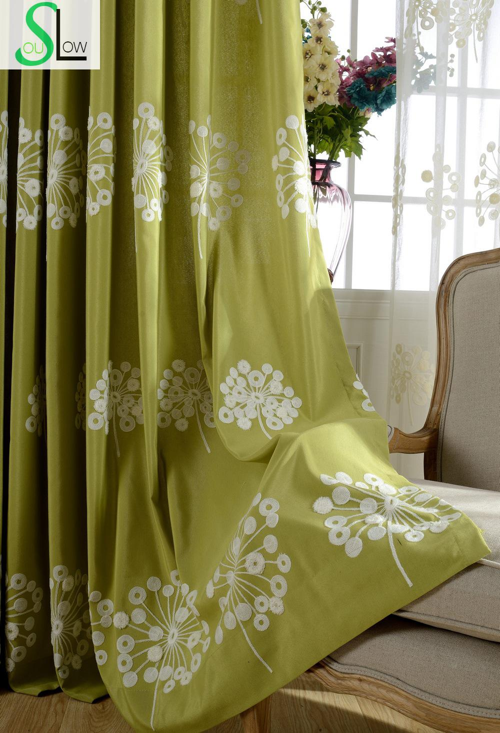 High Quality Embroidered Floral Window Curtain Living Room Quality ...