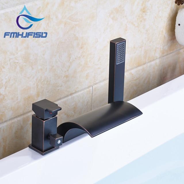 Best Quality Oil Rubbed Bronze Black Bath U0026 Shower Faucet With Plastic  Handshower