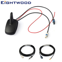 Eightwood Car DAB+FM Radio Stereo Amplified Aerial Roof Mount Shark Fin SMB Antenna Replacement Cable for Pioneer Sony DAB Kit