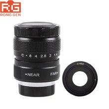 Fujian 25mm F1.4 CCTV TV lens + C NEX Mount Ring voor Sony E: NEX3 NEX C3 NEX F3 NEX 5 NEX 5N NEX 5R NEX 5T NEX6 NEX7 A6000 A6500