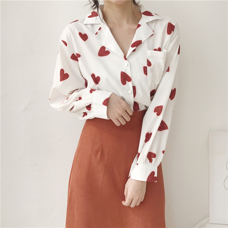 Women's Clothing Women Blouses Shirts New Wild V-neck Long-sleeved Flower Print Jumpsuit Tops Blusas Mujer De Special Summer Sale