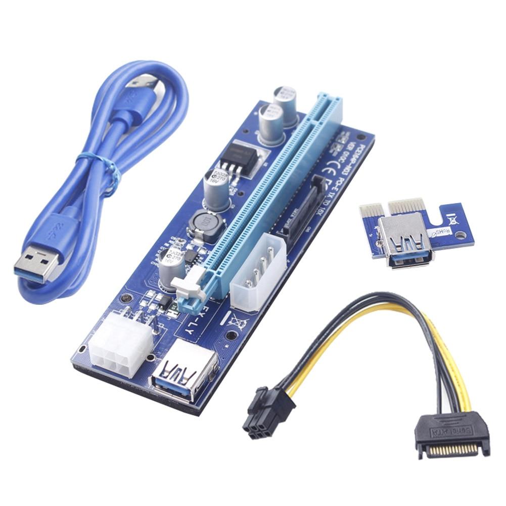1 Pc/6 Stücke/12 Stücke 6 Pin Usb 3.0 Pci-e Express Riser Card Adapter 1x Zu 16x Bergbau Extender Board Kabel Em88