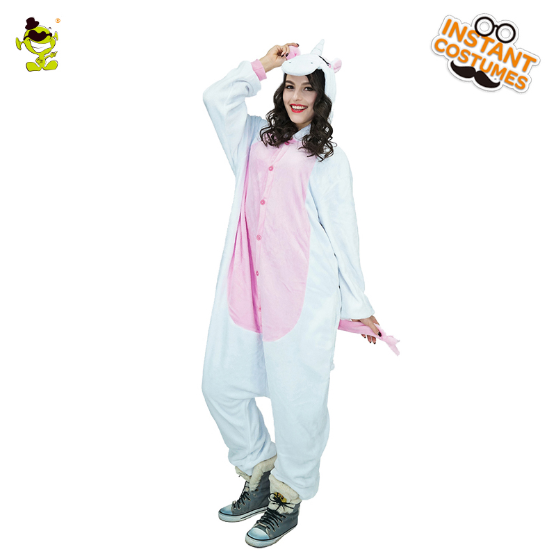 Adult Woman Unicorn Pajamas Costumes Women Cosplay Fancy Dress for Carnival Party Role Play Dressup Lady's Sleepwear Costume