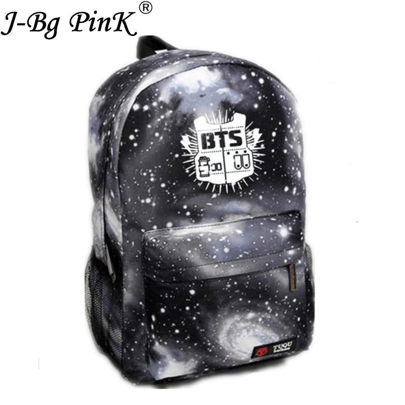 Korean Bangtan Boys Backpack Nylon Bts Printing School Bag Fashion Young Boy&girls High Quality Waterproof Travel Bag Mochila