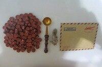 Free Shipping 1Set 100 Pieces Stamp Sealing Wax Granular 1 Piece Vintage Wood Handle Wax Seals