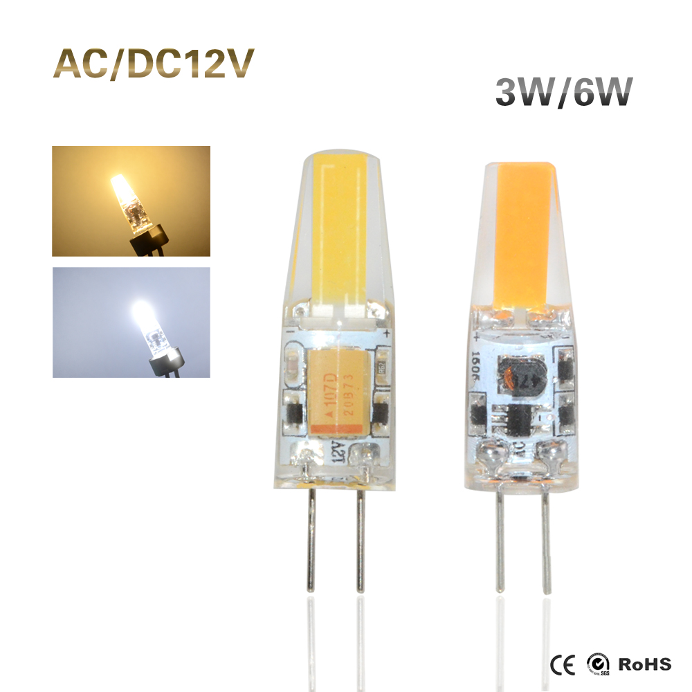 buy 1pcs 3w 6w g4 cob led lamp ac dc. Black Bedroom Furniture Sets. Home Design Ideas