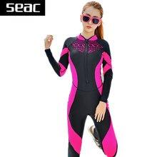 SEAC Dentelle Combinaison Femmes Zipper Maillot De Bain en Plein Corps Combinaisons Diving suit Rash Guard Combinaisons pour Natation Surf Sport Vêtements