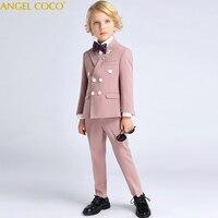 Набор 6 шт модный костюм для детская одежда для мальчиков Одежда для джентльменов топы для отдыха Костюмы официальная одежда костюм блейзер