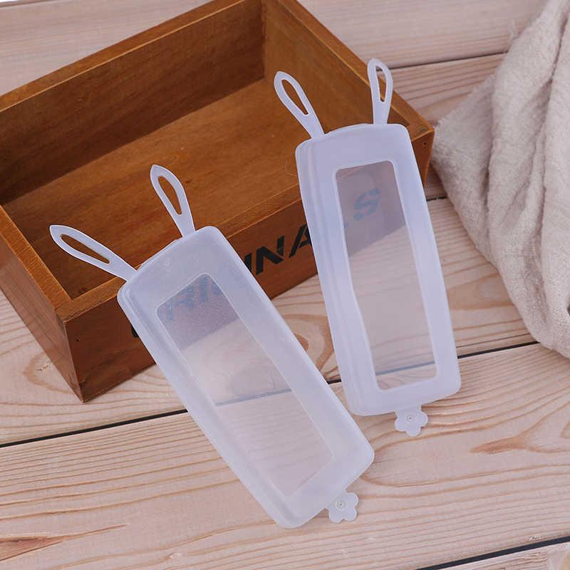 1 ピースシリコーン透明ウサギ耳テレビのリモコンケース空調ダスト保護収納袋リモコンカバー