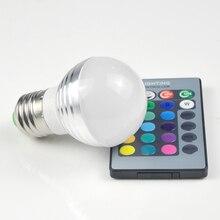 1Pcs Lovely 16 Colors RGB Christmas Decor Atmosphere LED Night light E27 5W 110V – 220V LED lamp Spotlight Bulb + IR Remote