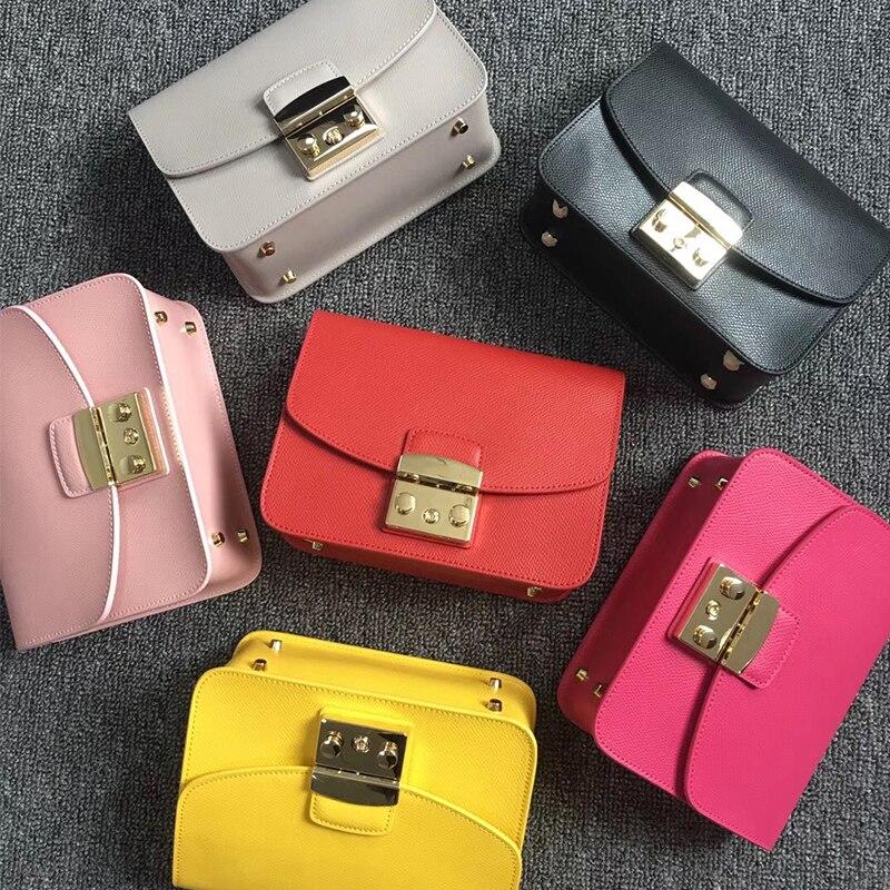 Dlnxy 21cm 21cm medium size famous brand real cowhide leather shoulder bag handbag shoulder bags for