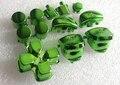 Зеленый цвет хром полный кнопка мод комплект комплект для PS4 контроллера ( l1r1, L2r2, Кнопки плеча, Средние кнопки )