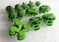 green color chrome full button Mod Kit set For PS4 Controller shell (L1R1,L2R2,shoulder buttons,middle buttons)