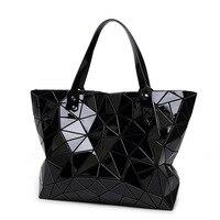 Big Women Tote Bag 2018 Fashion Luxury Famous Brand Bao Bao Bags Geometric Ladies Handbag Laser