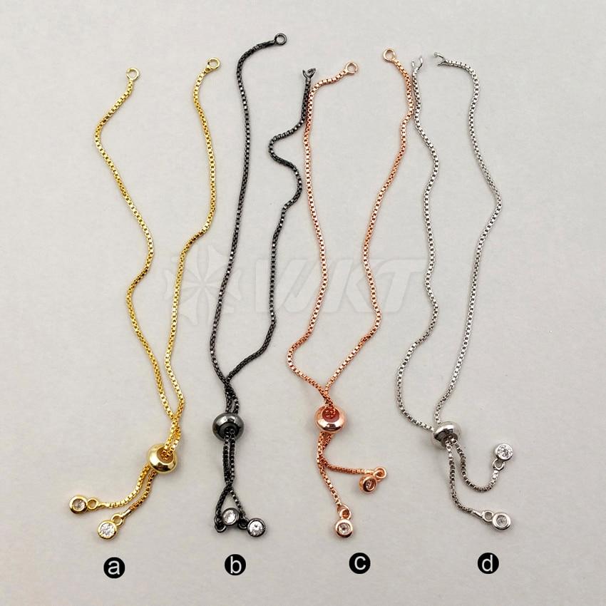 JF197 Charming Adjustable Chain Bracelet Findings Ready Bracelet Box Chain Bracelet Finish ChainsReady Made Bracelet Finding
