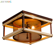 lámpara madera techo RETRO VINTAGE