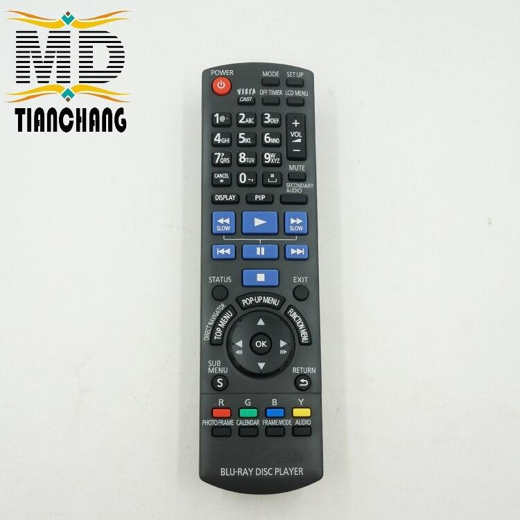 New Original <font><b>DVD</b></font> / <font><b>BLU</b></font> <font><b>RAY</b></font> DISC <font><b>PLAYER</b></font> Remote Control Use For <font><b>Panasonic</b></font> N2QAKB000086 DMPB500 DMPB500P
