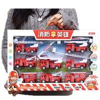 Doub K Set Mini Pull Back Car Model Toy Simulation Fire Truck Engineering Vehicles Military Car