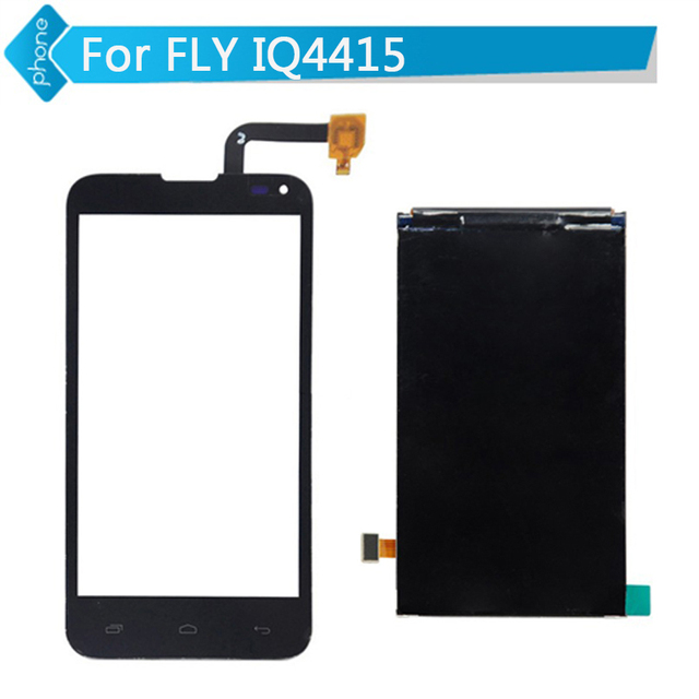 Para FLY IQ4415 display lcd + de Toque Digitador Da Tela preto branco