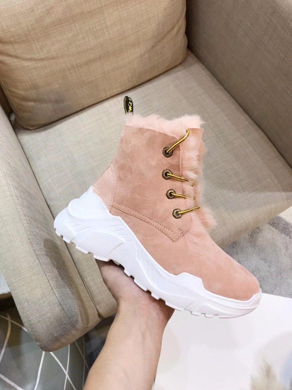 2018 Europeo 100 Stivali pink Grey Da Le Alta Pecora Pelle Neve Donne Di Ultimo Naturale Vera Stile white yellow Qualità Lana wXXr7Hqx