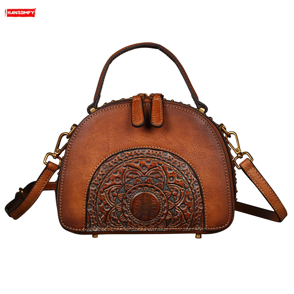2019 new retro genuine leather women handbags multi-functional first layer leather female shoulder bag diagonal cross-body bags2019 new retro genuine leather women handbags multi-functional first layer leather female shoulder bag diagonal cross-body bags