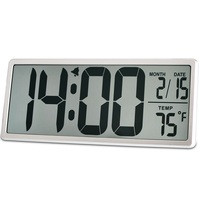 TXL Large Alarm Clock Digital Snooze Full Vision Desktop Clock TEMP Time Month Date Large Display