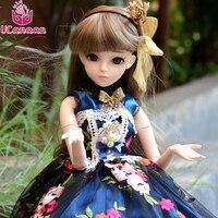 UCanaan/24 1/3 БЖД SD кукла 18 мяч шарнирные куклы игрушки Рисунок + макияж + ресниц + полный аксессуар принцесса мультфильм DIY игрушки