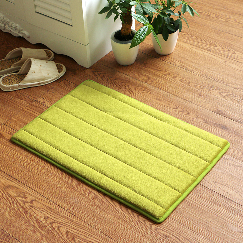 Memory Foam Doormats Bathroom Bath Mats Anti-slip Kitchen Area Rug Bedroom Floor Carpets Bedside Mats Entrance Hallway Mats