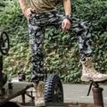 Corredores masculinos 2017 de los hombres de la llegada pantalones de carga de Trabajo de los hombres del ejército militar Camuflaje Pantalones Multi-bolsillos hombres Bottoms