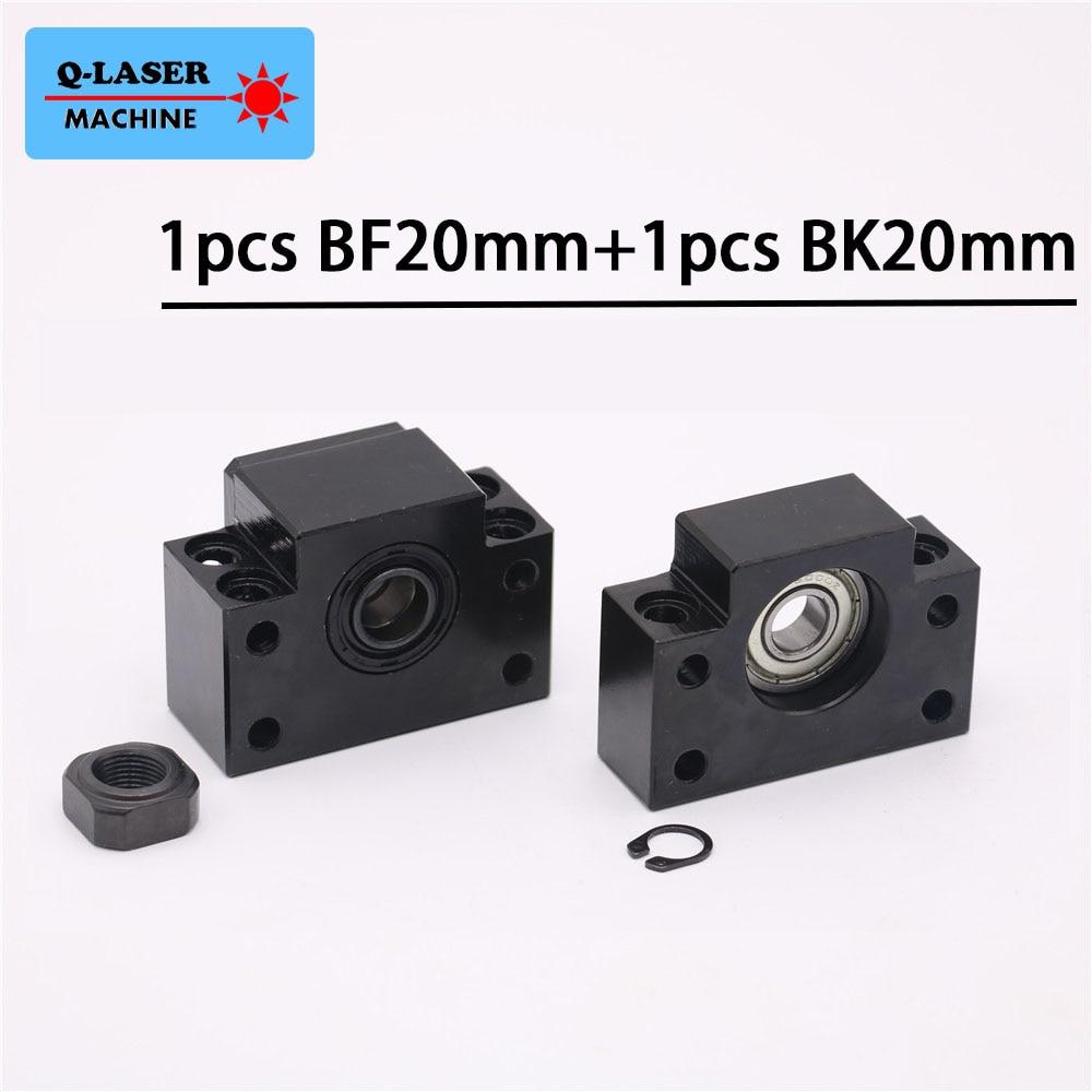 Lado Fixo BK20 BF20 Ballscrew Fim Suporta Definido para SFU2505 SFU2510 Ballscrew Forro Guias Máquina CNC Peças titular
