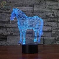 Modern Unicorn Led 3D Night Light USB LED Lamp Luminaria Infantil De Quarto For Living Room Desk lamps