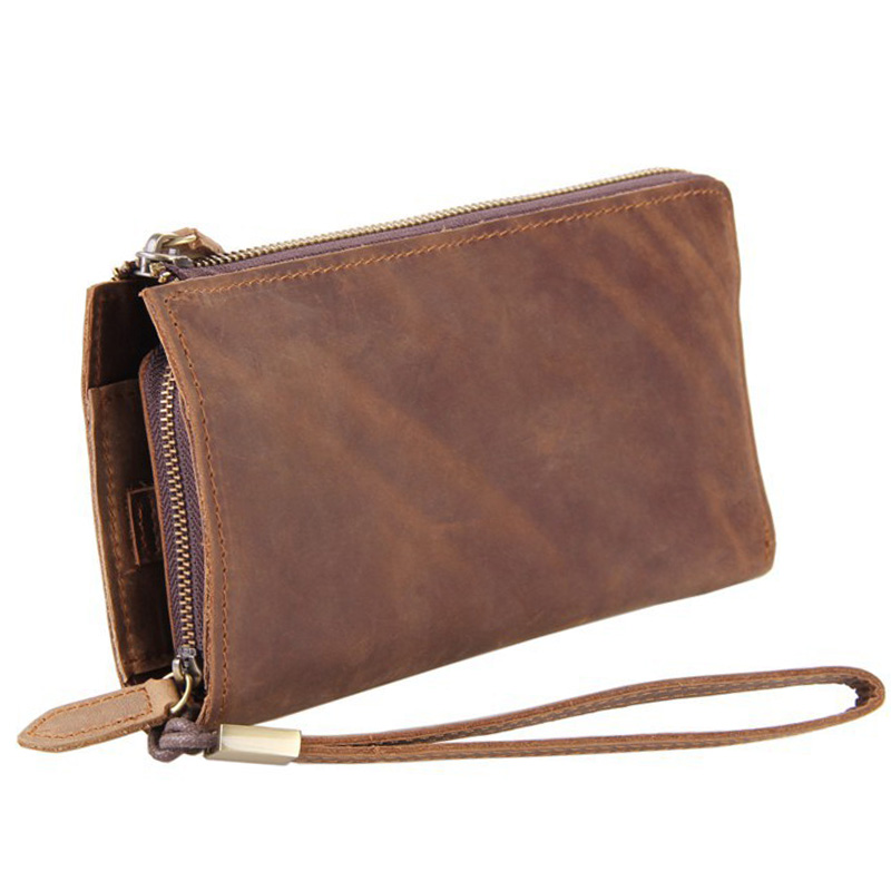2016 Luxury Male Leather Purse Men's Clutch Wallets Handy Bags Business Wallets Men Brown Long wallet  carteira masculina 2016 famous brand new men business brown black clutch wallets bags male real leather high capacity long wallet purses handy bags