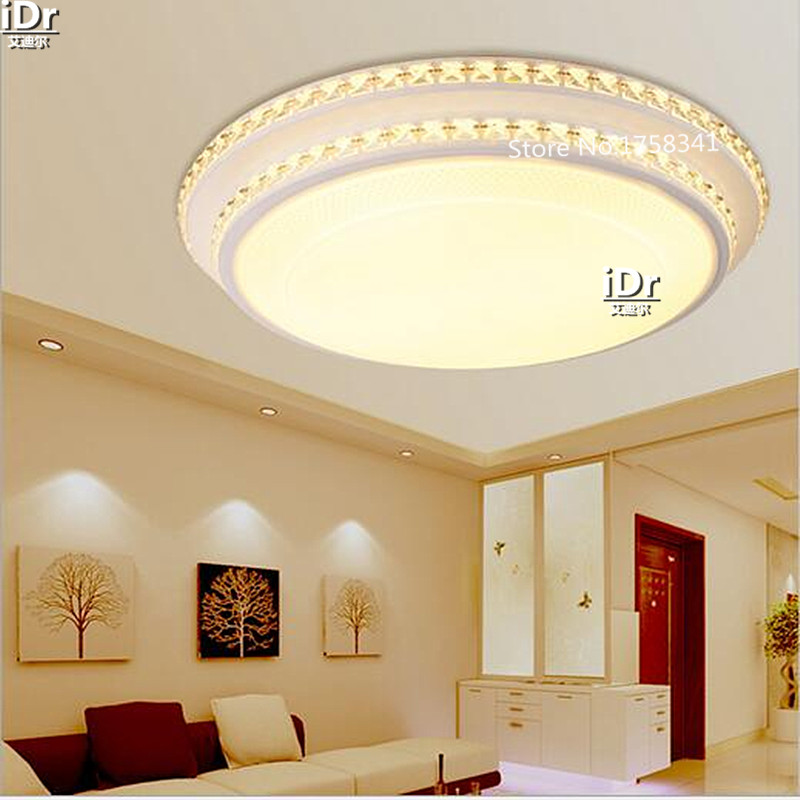 Simple modern crystal double round wrought iron lamp large living room lamp  bedroom lamp Ceiling Lights - Online Get Cheap Large Room Lighting -Aliexpress.com Alibaba Group