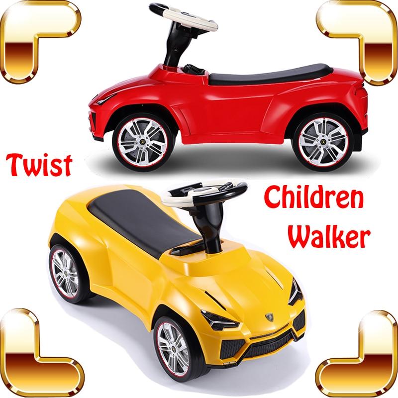 New Year Gift LAMB Baby Children Walker Four Wheel Twist Car Learning Walk Kids Car Safety Ride On Cars Go-Go Vehicle Toy  противоскользящие полоски safety walk цвет серый 6 шт