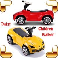 New Year Gift Rastar LAMB Baby Children Walker Four Wheel Twist Car Learning Walk Kids Car