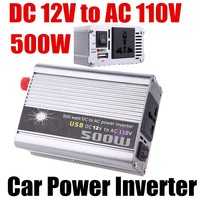 car Voltage Transformer modified sine wave 500W Power Inverter With USB DC12V to AC 110V auto converter