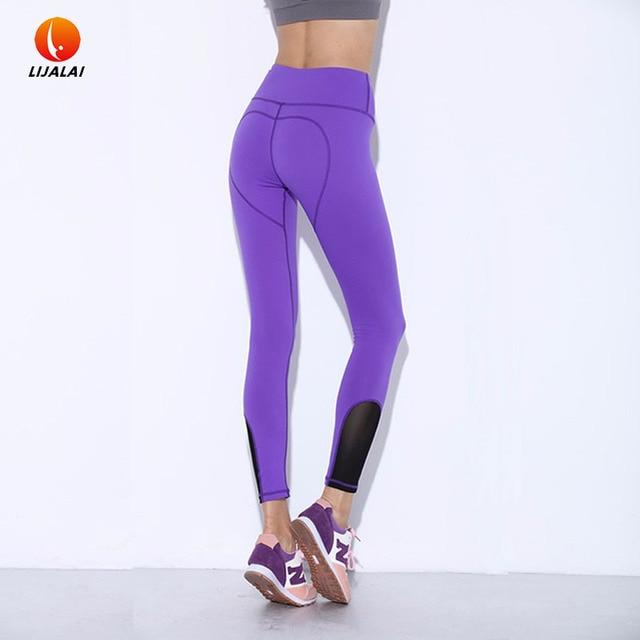 Splicing Women Yoga Pants / Leggings / Tights