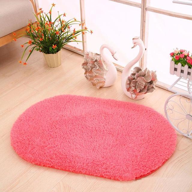 Anti Slip Shower Stickers Soft Oval Memory Foam Bath Bathroom Bedroom Floor Mat Rug Shipping