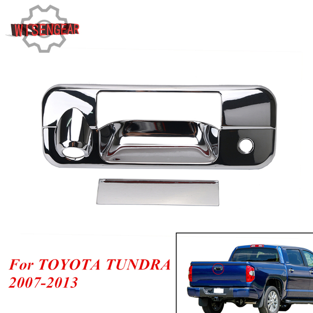 WISENGEAR Chrome Tailgate Door Handle Cover For Toyota Tundra Cab Pickup 2007-2013 Tail Gate  sc 1 st  AliExpress.com & WISENGEAR Chrome Tailgate Door Handle Cover For Toyota Tundra Cab ...