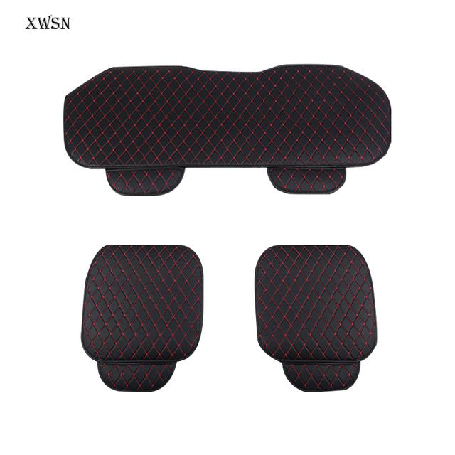 Cuero Artificial universal cojín del asiento de coche para kia ceed 2017 cerato k3 sportage 3 rio 4 alma sorento espectros Coche cubierta de asiento