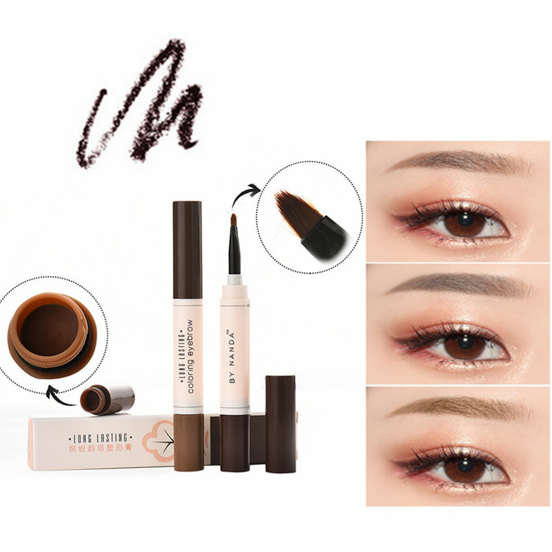NEW 1PC Natural Makeup Eyebrow Pencil Professional Brow Tint Tattoo Paint Cream Wax Waterproof Eyebrow Brush Pen TSLM2
