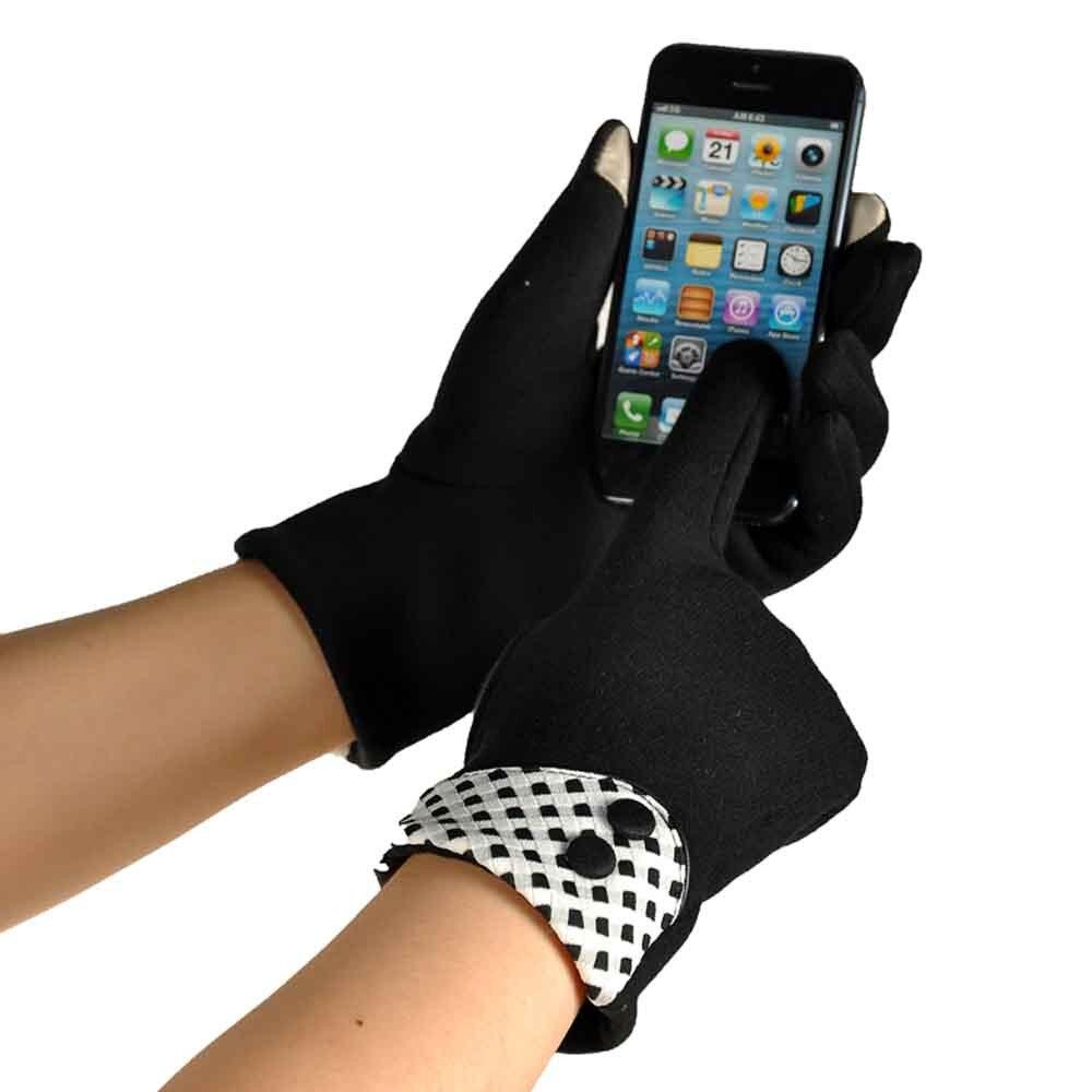 Womens leather smartphone gloves - Fashion Smartphone Screen Wrist Gloves Mittens Gloves Winter Warm Gloves Women Guantes Luvas De Inverno Top