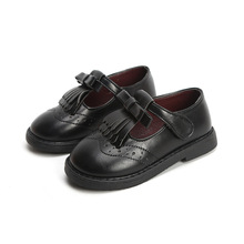 Tassel Girls Leather Shoes Black School For Kids Sneakers Children Flats Princess Casual
