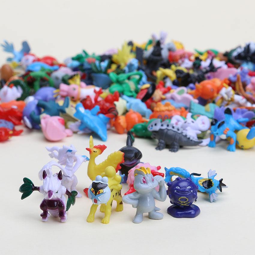 3sets 144pcs set 1inch 2 3cm different style Mini anime doll toys eevee pvc action figure