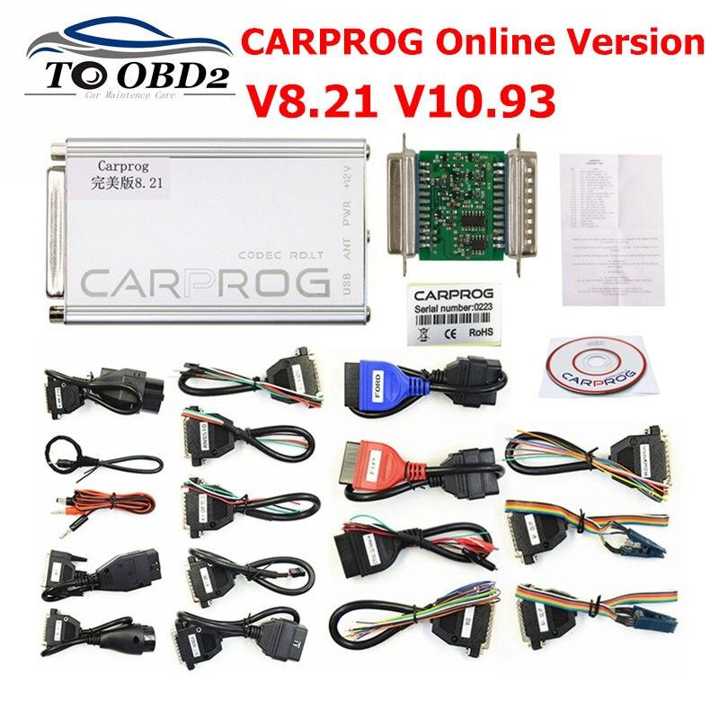 Perfekte CARPROG V8.21 Online Version Hinzufügen Mehr Genehmigung Mit Keygen Auto Prog V10.93 V8.21 Auto ECU Reparatur Werkzeug