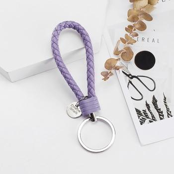 Vicney PU Leather Braided Woven Rope bts keychain DIY bag Pendant 4